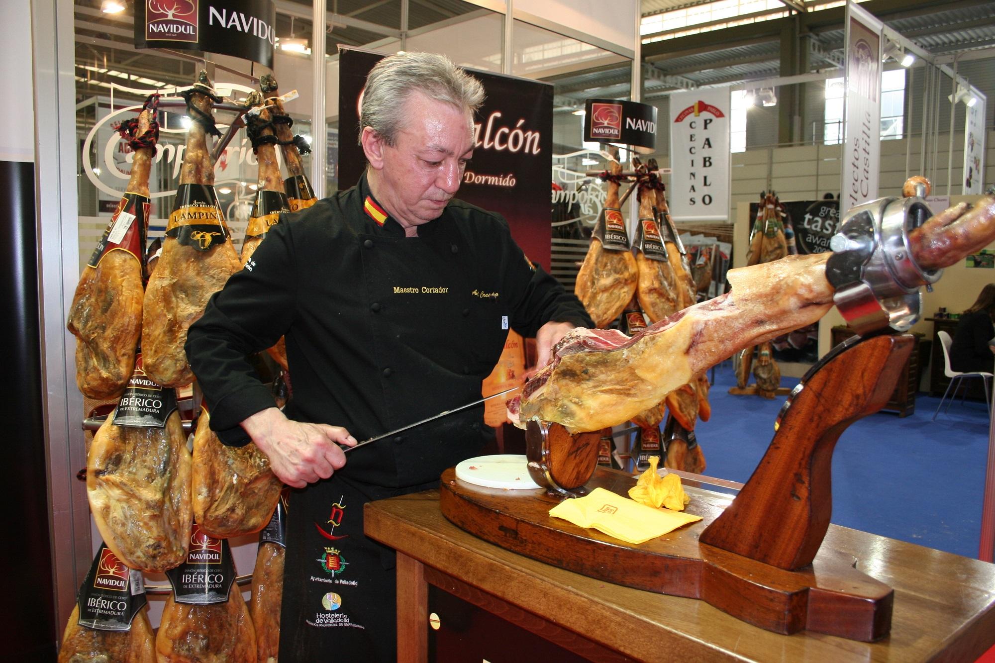 Cortador de jamón en el Salón de la Alimentación 2013