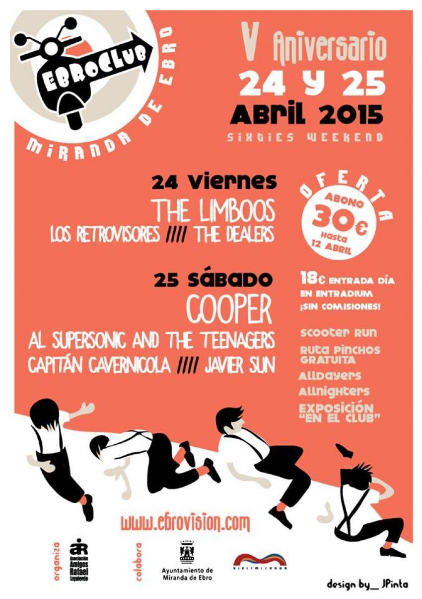 La música de los años 60, protagonista del Festival Ebroclub Festival Ebroclub 2015