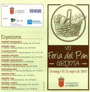 La VII Feria del Pan en Grijota (Palencia) ofrecerá talleres y degustaciones