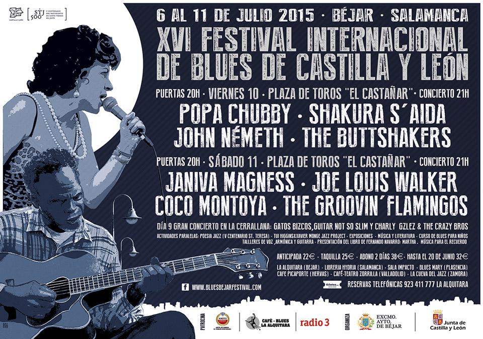 John Németh, Janiva Magness, Joe Louis Walker, Popa Chubby y Coco Montoya encabezan el cartel del XVI Festival Internacional de Blues de Béjar