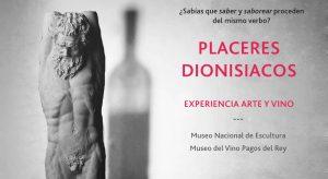 El Museo Nacional de Escultura y Pagos del Rey Museo del Vino funden arte y vino en 'Placeres Dionisiacos'