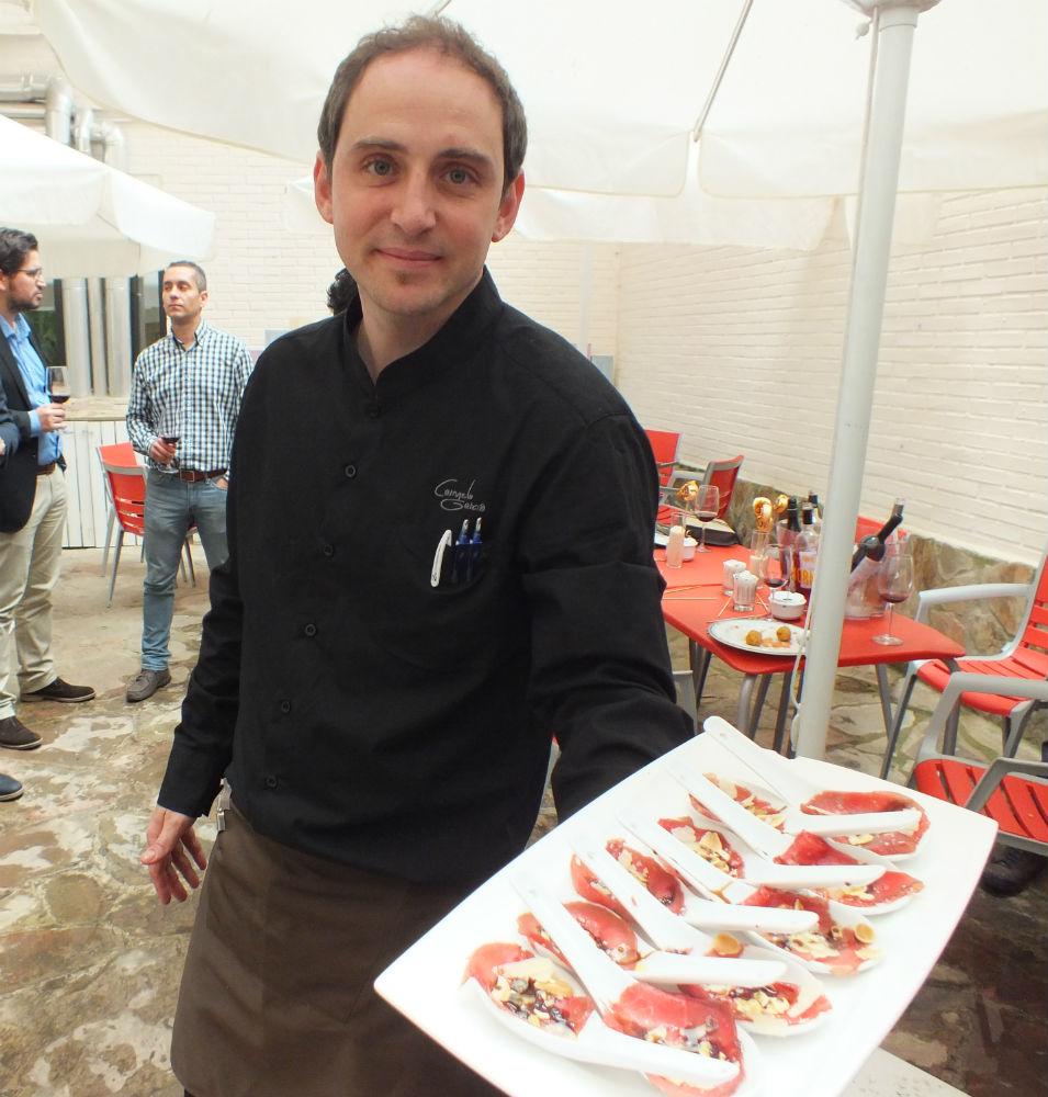 La cata se realizó en el restaurante La Encina, del Hotel Zentral Parque, en Valladolid