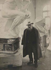 Auguste Rodin en el taller. Creative Commons