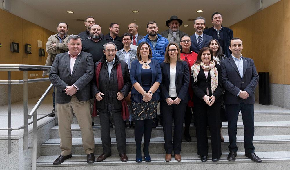 Milagros Marcos junto a los presidentes de los Consejos Reguladores de Castilla y León