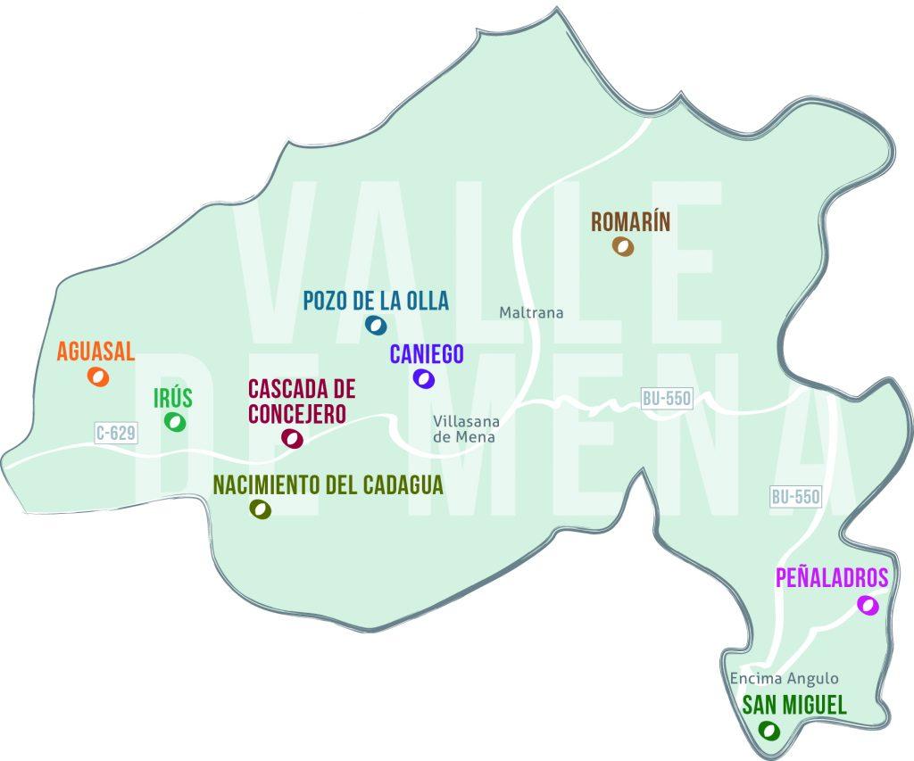 mapa cascadas