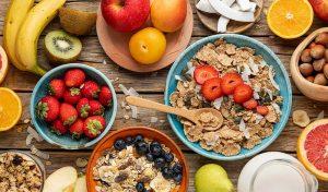 fruta cereales alimentación